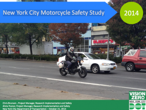 Unreleased: New York City Motorcycle Safety Study, 2014